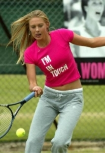 Maria Sharapova playing Tennis in Portugal